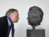 Portret Gerrit Komrij met Jeroen Spijker